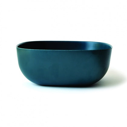 Large Bamboo Salad Bowl - Dark Blue