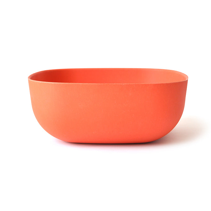 Large Bamboo Salad Bowl - Orange
