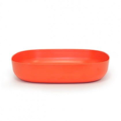 Large Bamboo Serving Dish - Orange