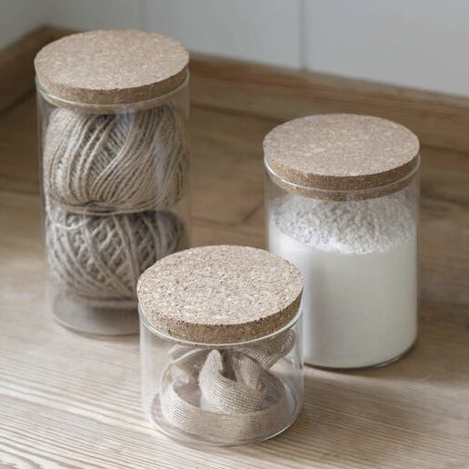 Glass and Cork Storage Jar