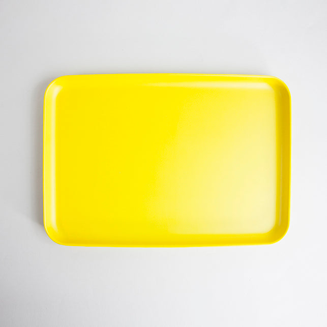 Rectangular Bamboo Tray - Yellow