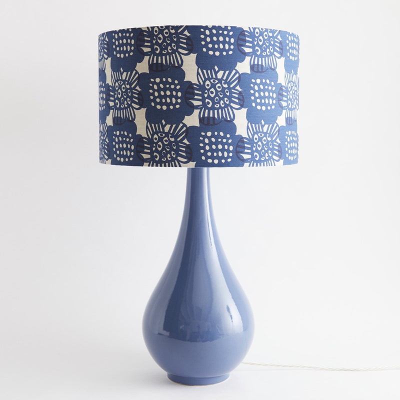 Pear Drop Large Table Lamp in Blue with Bloom Ink Shade