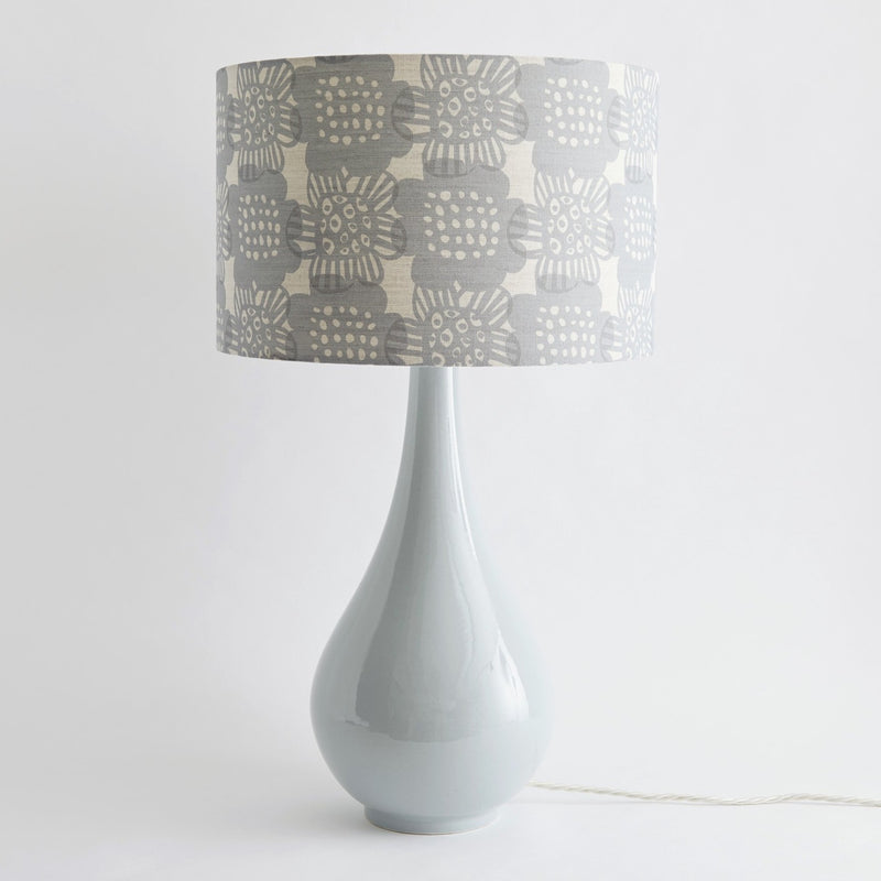 Pear Drop Large Table Lamp in Grey with Bloom Pewter Shade