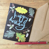 'Leafy' Greetings Card