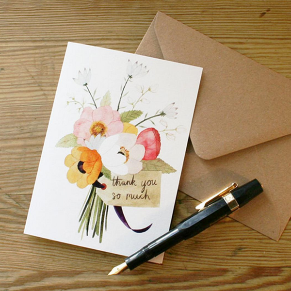 Thankyou Flowers Card