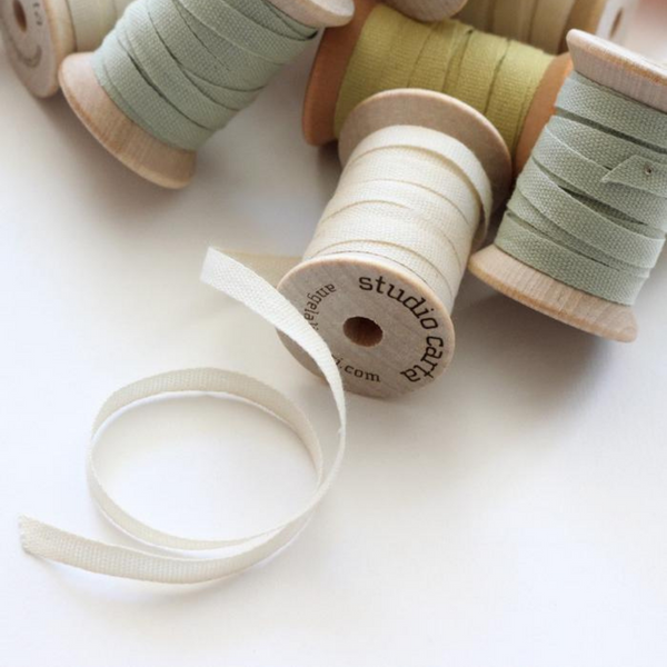 Loose Weave Cotton Ribbon - 5 yards