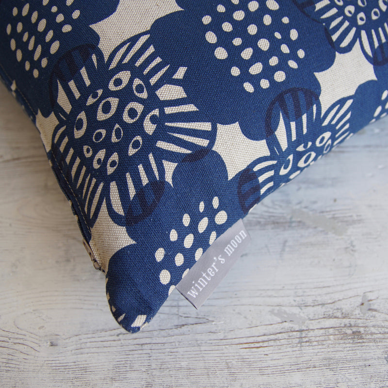 NEW! Cushion in Bloom - Ink Blue