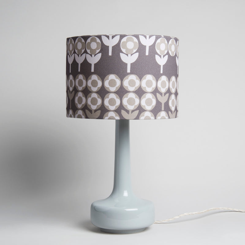 Bell Bottom Grey Table Lamp with Verdure Shade