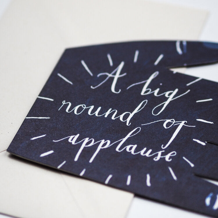 'A Big Round of Applause' Greetings Card
