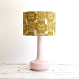 Bell Bottom Pink Table Lamp with Bloom Curry Shade
