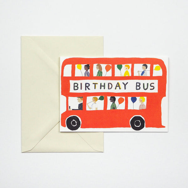 'Birthday Bus' Greetings Card