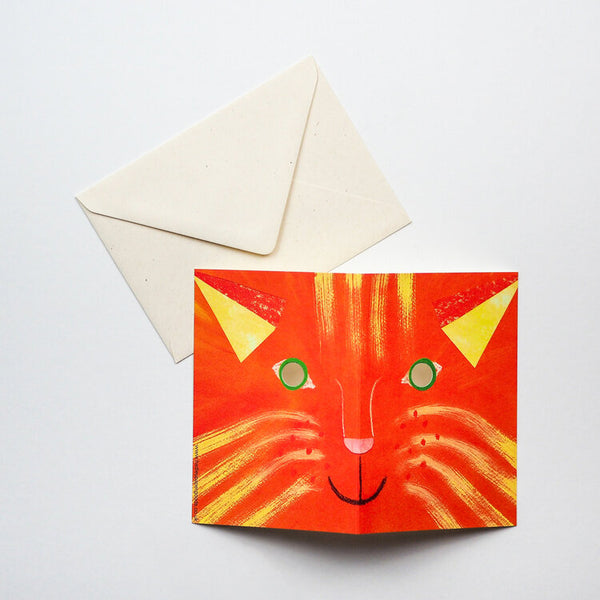 'Cat Mask' Greetings Card
