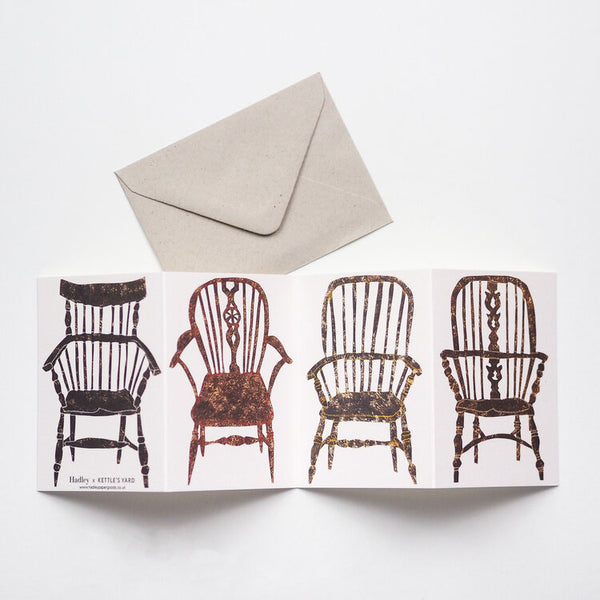 'Chairs' Fold-Out Greetings Card