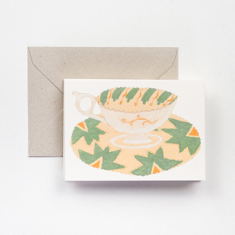 'Teacups' Fold-Out Greetings Card