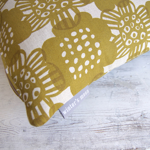 Cushion in Bloom - Curry Yellow
