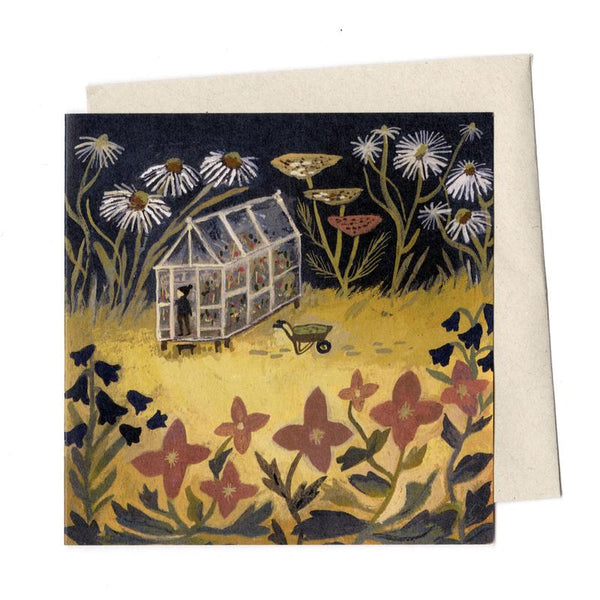 'Down in the Garden' Greetings Card