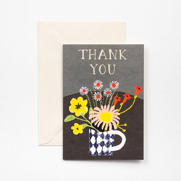 'Floral Thank You' Greetings Card