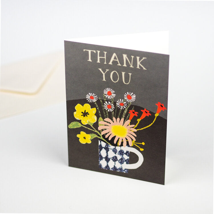 'Floral Thank You' Greetings Card with Envelope