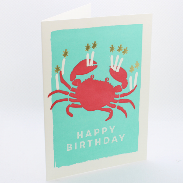 'Birthday Crab' Greetings Card