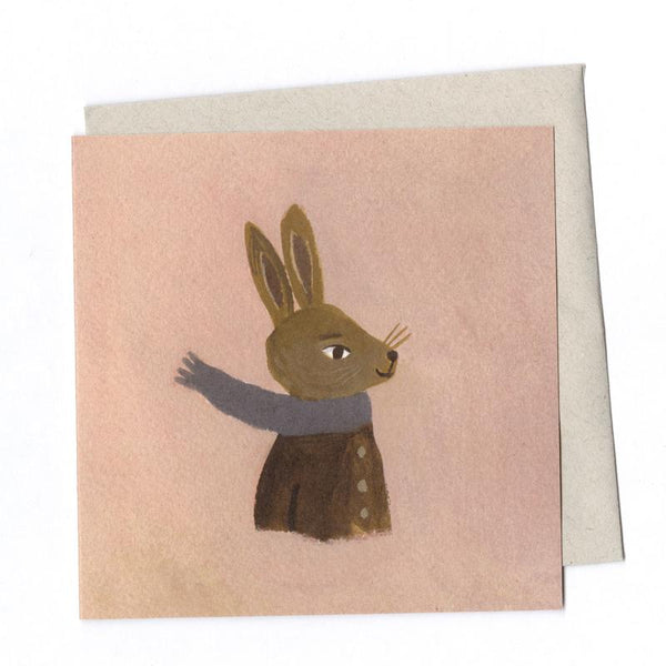 'Hare in Winter' Greetings Card