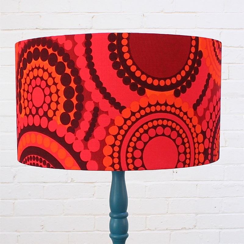 Large Lampshade in Vintage Bright Dots