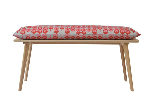 Perky Plywood Bench with Verdure Cushion