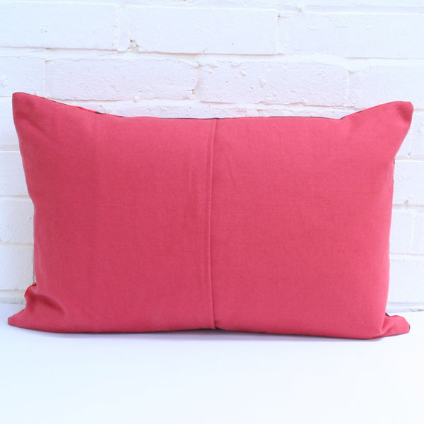 Large Rectangular Cushion in Vintage Bright Dots