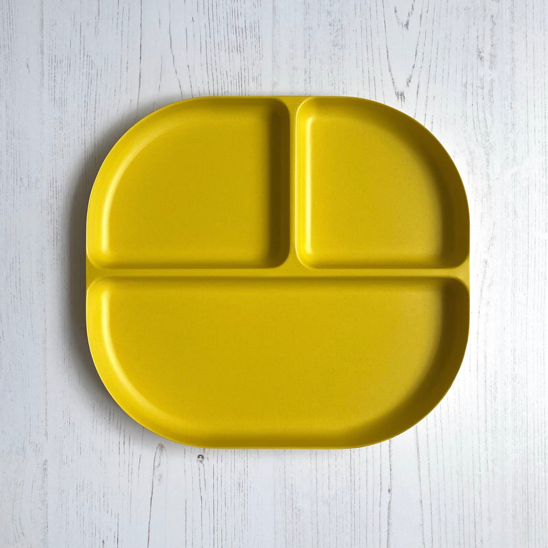 Bamboo Divided Plate - Yellow