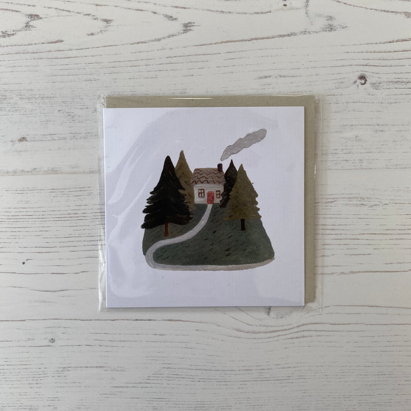 'At Home in the Woods' Greetings Card