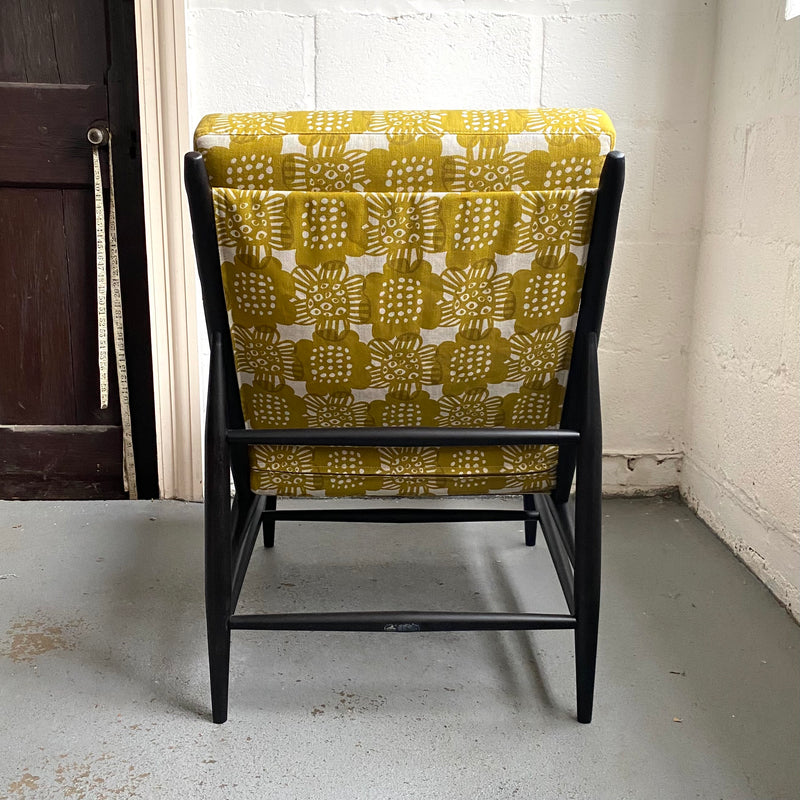 Vintage Ercol 427 Chair in Bloom Curry