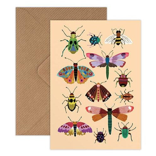 'Insects' Greetings Card