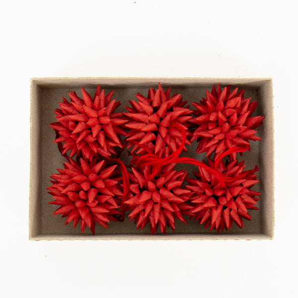 Paper Star Pendant Pack - Red