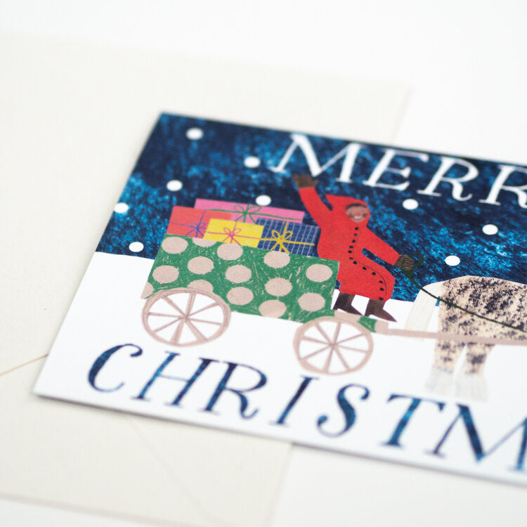 'Christmas Sleigh' Card