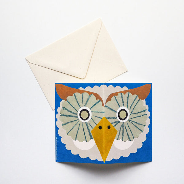 'Owl Mask' Greetings Card
