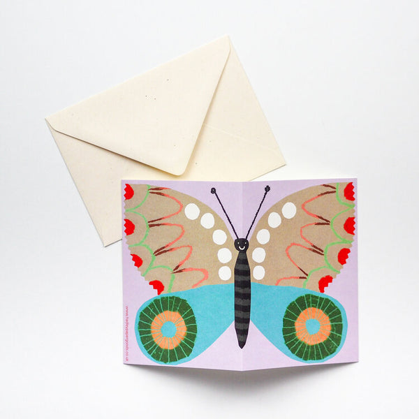 'Purple Butterfly' Card