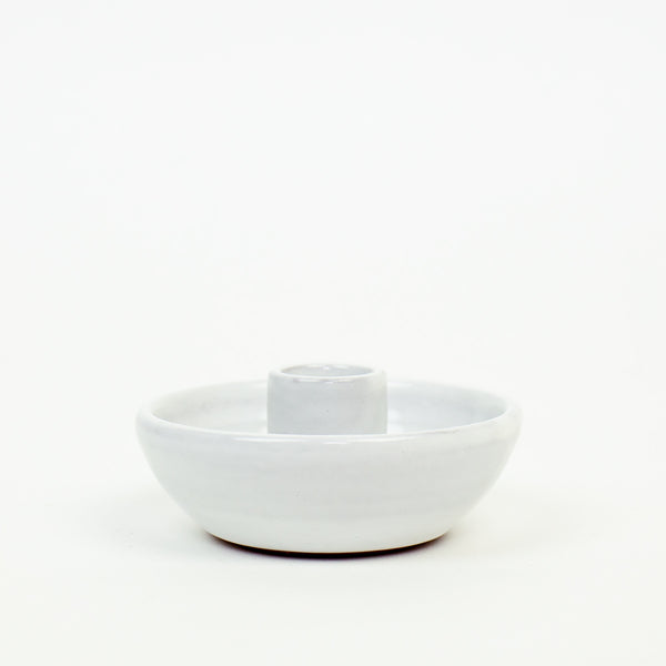 Fairtrade White Ceramic Candleholder