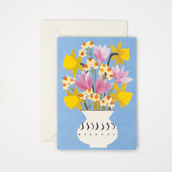 'Spring Flowers' Greetings Card