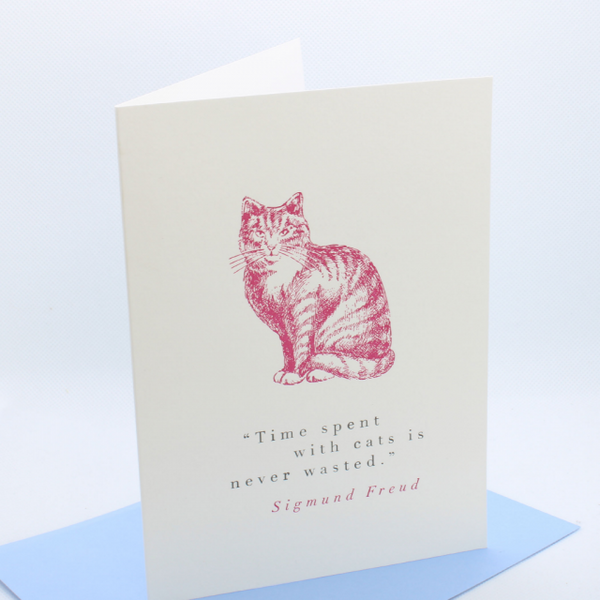 'Time with cats' Greetings Card