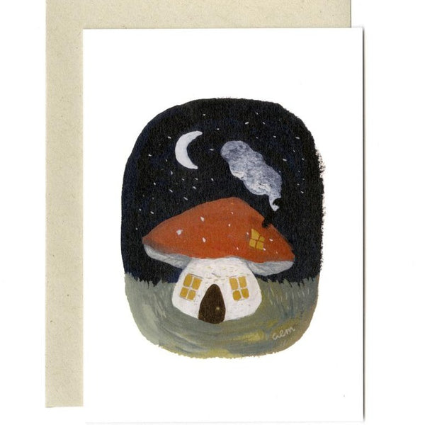'Toadstool Cottage' Greetings Card