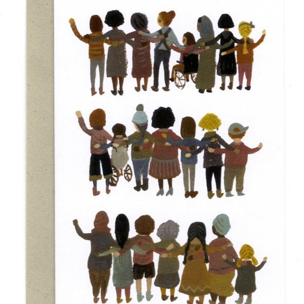 'Unity, Solidarity and Strength' Greetings Card