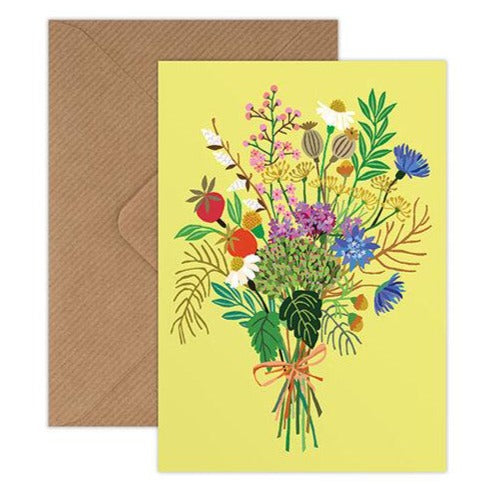 'Wild Posy' Greetings Card