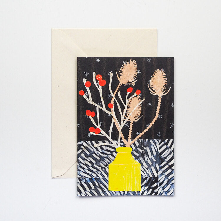'Winter Vase' Greetings Card