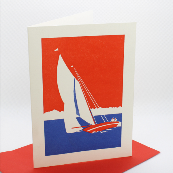 'Yacht' Greetings Card