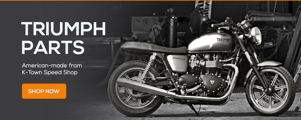 Custom precision Triumph motorcycle accessories from K-Town Speed Shop. Made in the USA!
