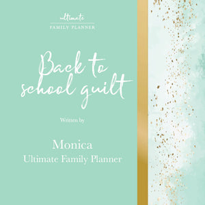 Back to school guilt