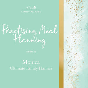 Practising Meal Planning; Things to think about before you start!