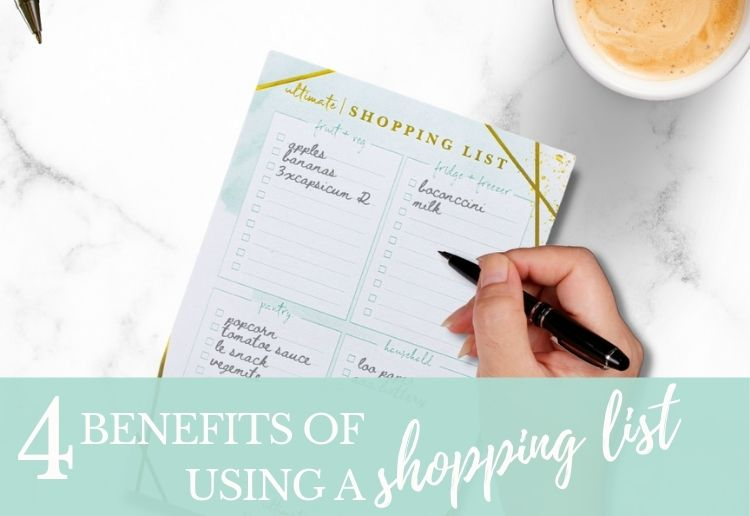4 reasons to use a shopping list