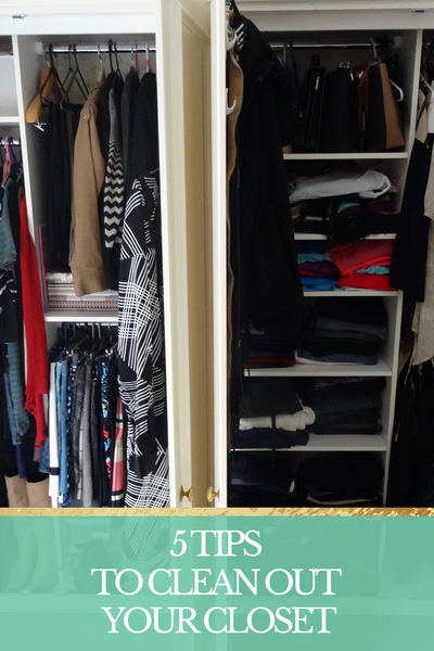 5 TIPS FOR CLEANING YOUR CLOSET