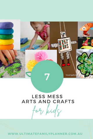 7 less mess arts and crafts for kids