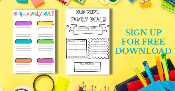 2021 Family Goal Planning template